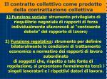 il contratto collettivo come prodotto della contrattazione collettiva