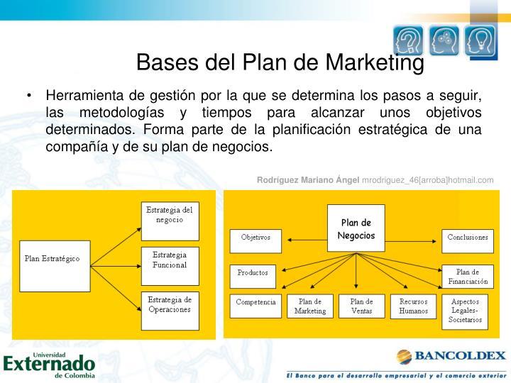 Bases del Plan de Marketing