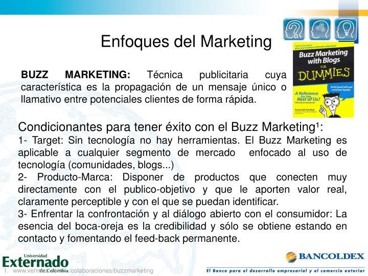 Enfoques del Marketing