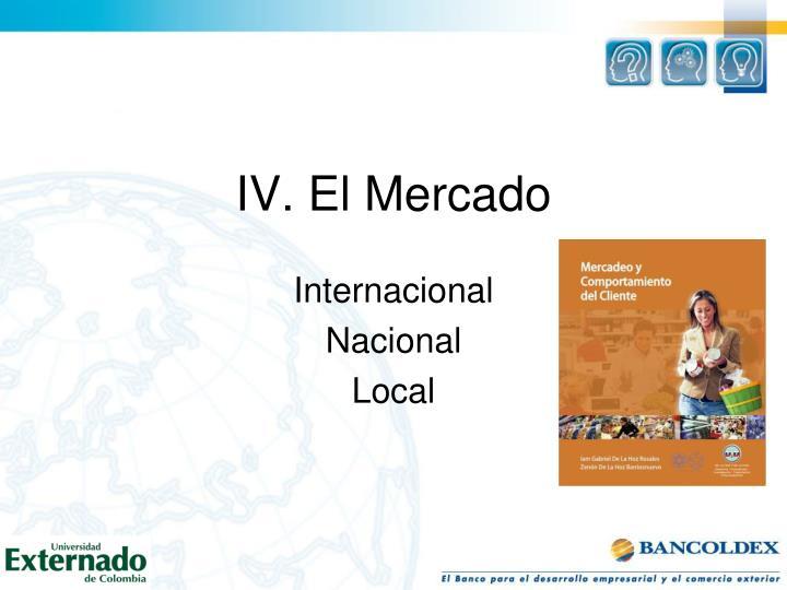 IV. El Mercado