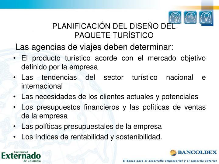PLANIFICACIÓN DEL DISEÑO DEL