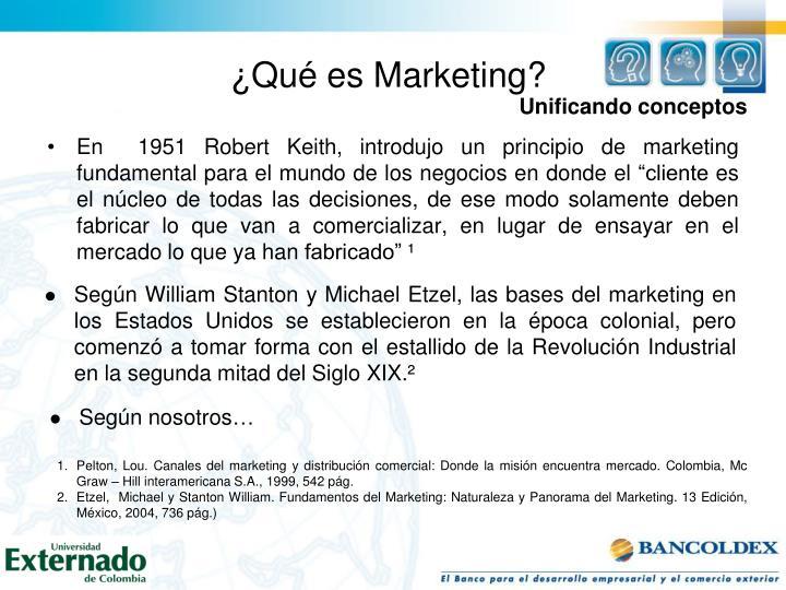 ¿Qué es Marketing?