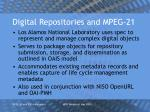digital repositories and mpeg 21