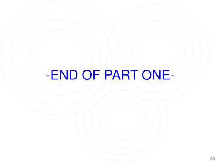 -END OF PART ONE-