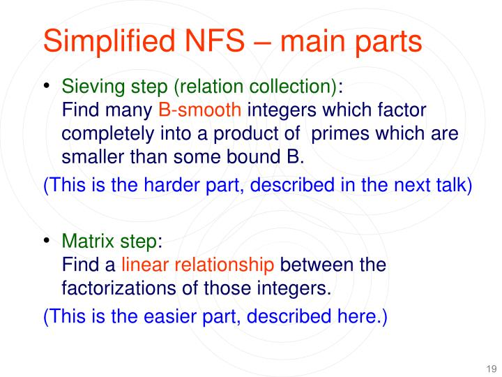 Simplified NFS – main parts