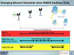 emerging ethernet standards allow wimax backhaul slas