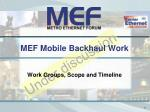 mef mobile backhaul work