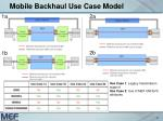 mobile backhaul use case model