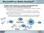 why eopdh for mobile backhaul
