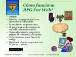 c mo funciona rpg for web