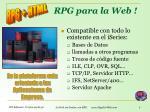 rpg para la web