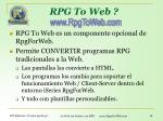 rpg to web