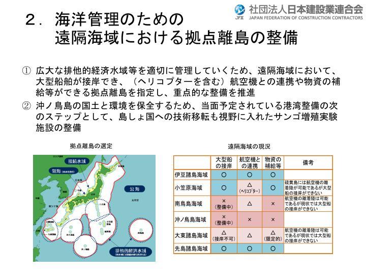 2.海洋管理のための