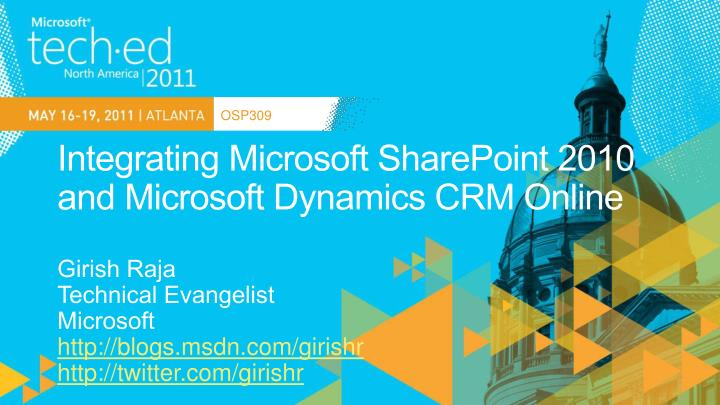 Integrating microsoft sharepoint 2010 and microsoft dynamics crm online