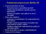 tratamiento propuesto por barkley 90