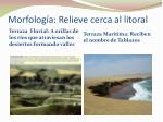morfolog a relieve cerca al litoral