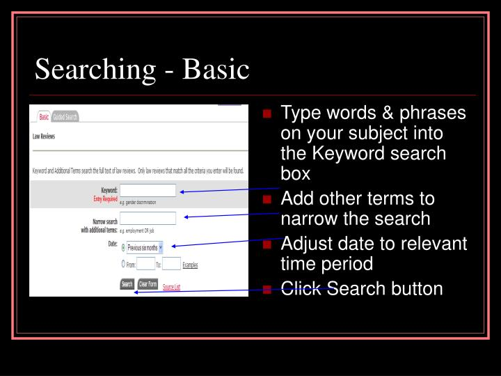 Searching - Basic