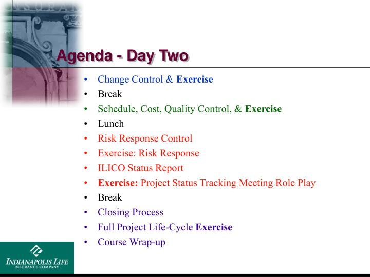 Agenda - Day Two