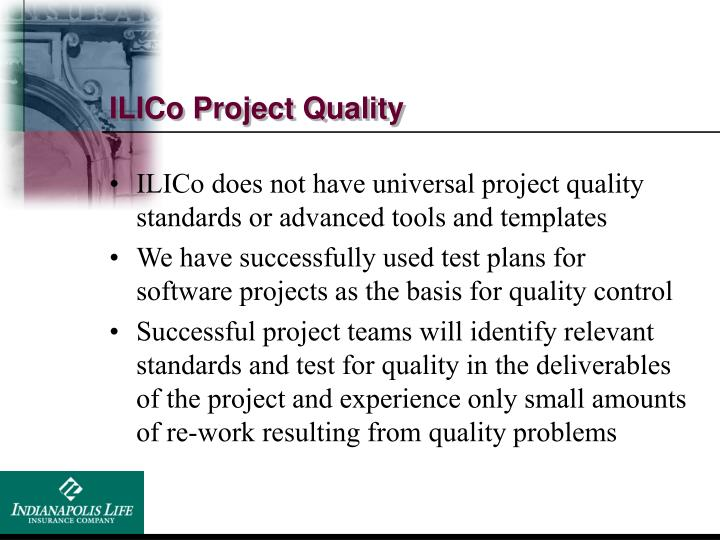 ILICo Project Quality