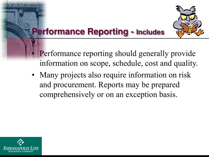 Performance Reporting -