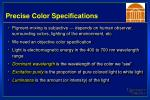 precise color specifications