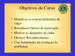 objetivos do curso