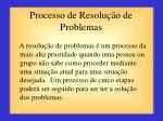 processo de resolu o de problemas