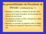 responsabilidades do presidente de divis o continua o pg 2