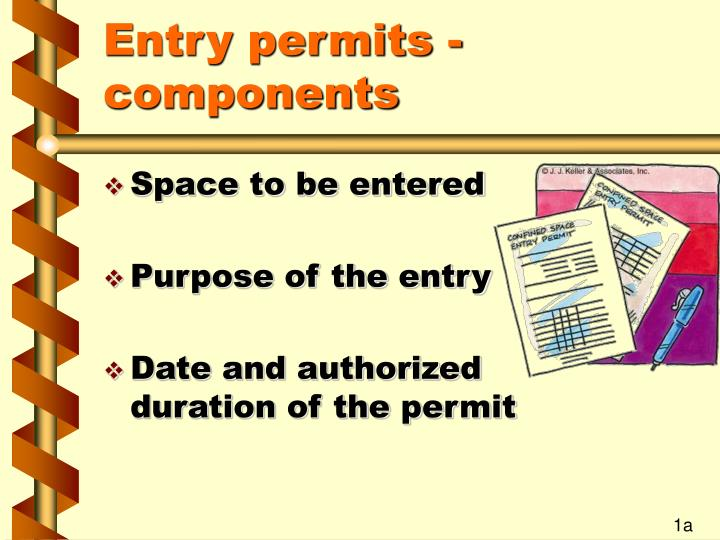Entry permits components