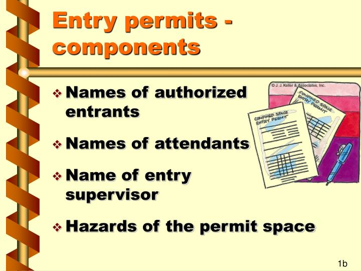 Entry permits components1