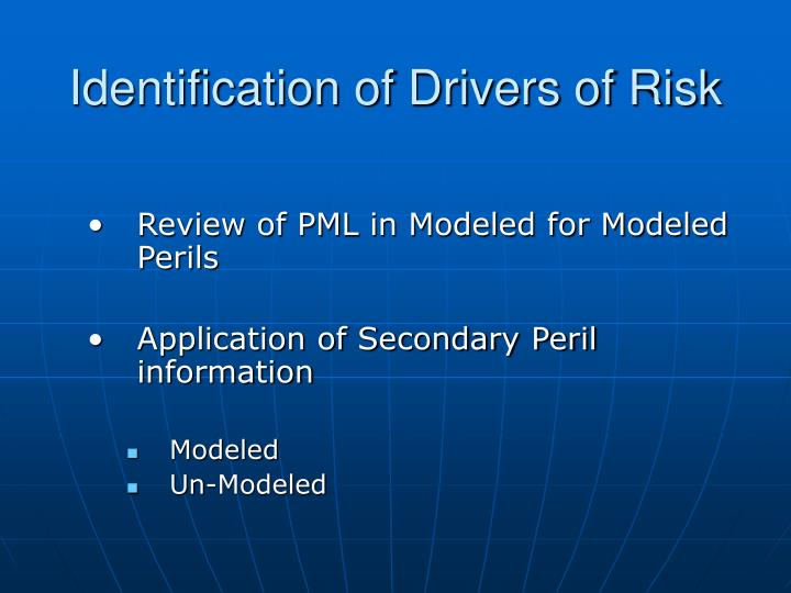 Identification of Drivers of Risk