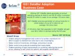gs1 databar adoption business case