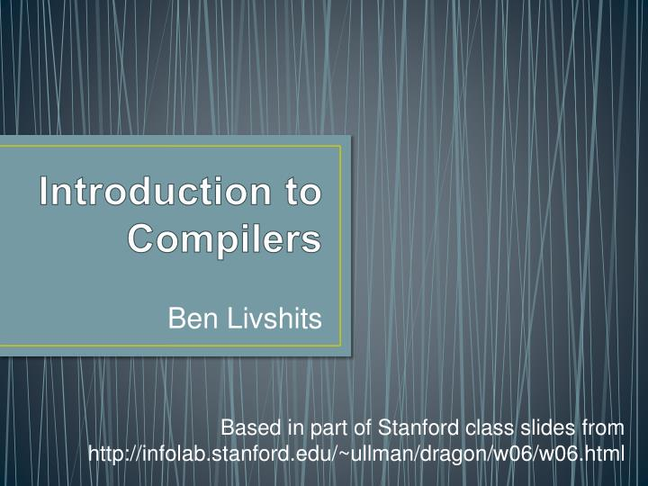 introduction to compilers n.