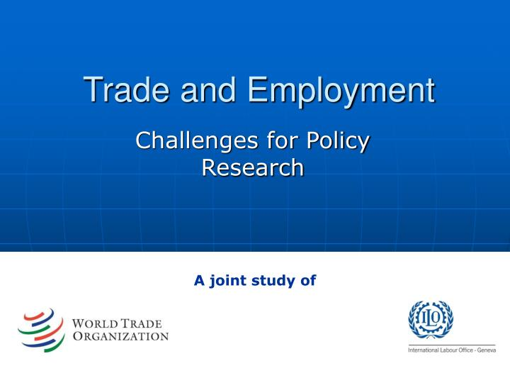 trade and employment n.