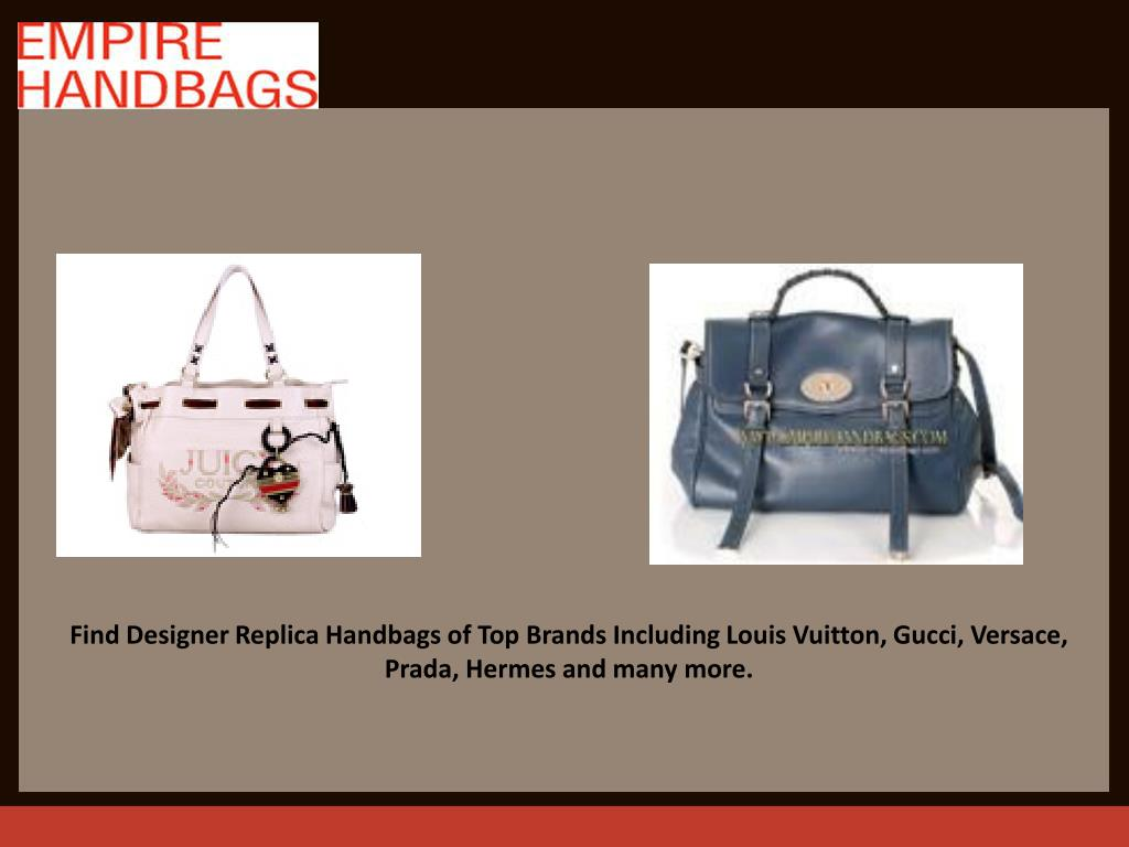 Find Designer Replica Handbags of Top Brands Including Louis Vuitton, Gucci, Versace, Prada, Hermes and many more.