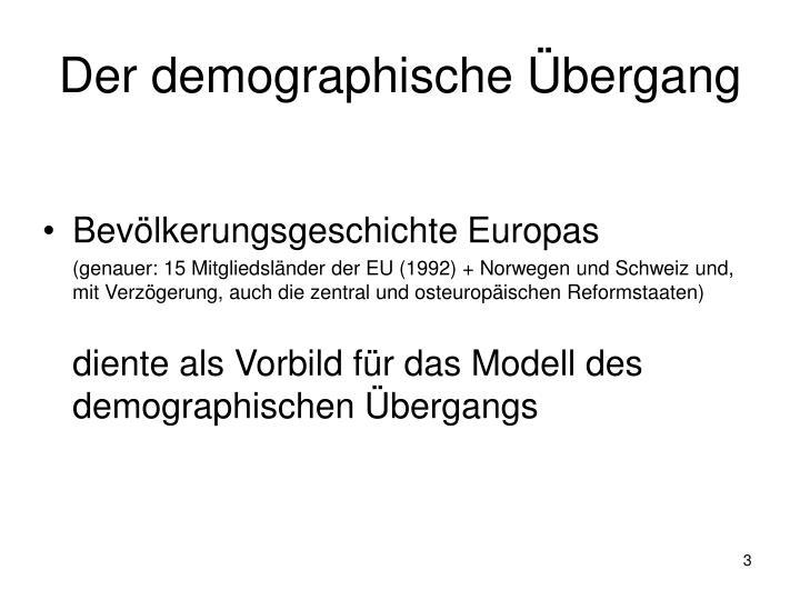 Der demographische bergang