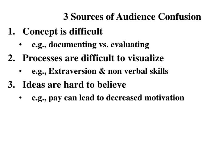 3 Sources of Audience Confusion