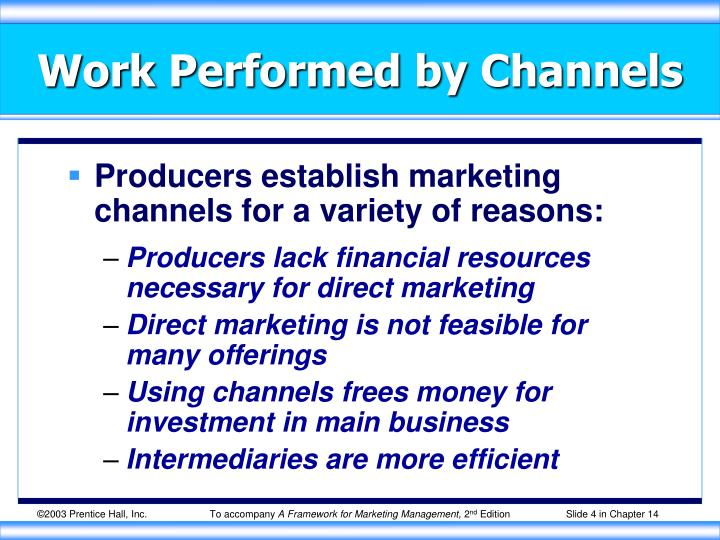 Work Performed by Channels