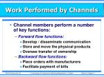 work performed by channels1