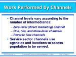 work performed by channels3
