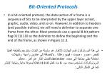 bit oriented protocols