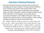 character oriented protocols1