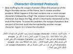 character oriented protocols3