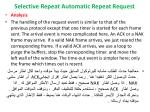 selective repeat automatic repeat request10