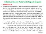 selective repeat automatic repeat request19