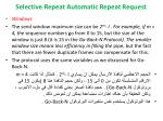 selective repeat automatic repeat request3
