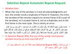 selective repeat automatic repeat request8