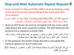 stop and wait automatic repeat request3