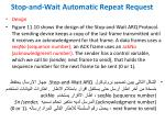 stop and wait automatic repeat request4