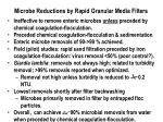microbe reductions by rapid granular media filters